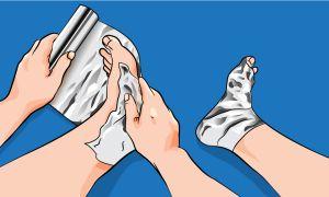 Способы лечения пяточной шпоры с применением обыкновенной пищевой фольги