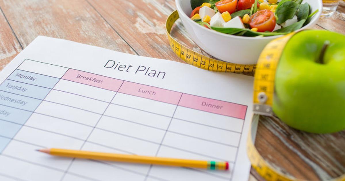 план диеты на столе