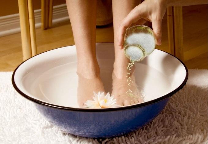 Ванночка для ног с цветком